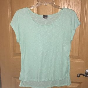 Aqua top size Med. Half slit side longer in back